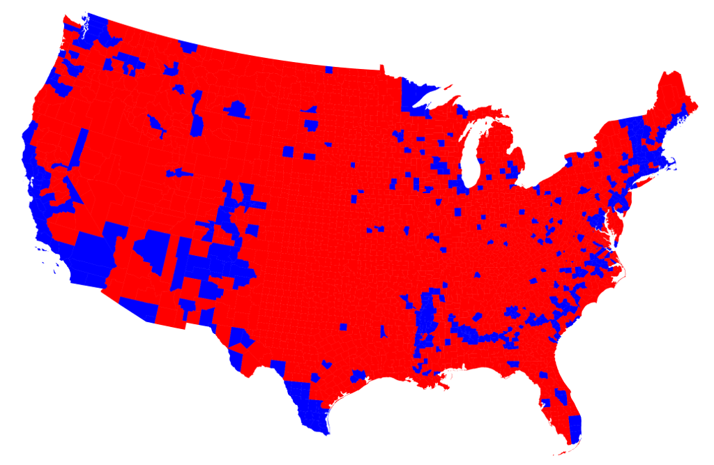 2016 Presidential Election by County